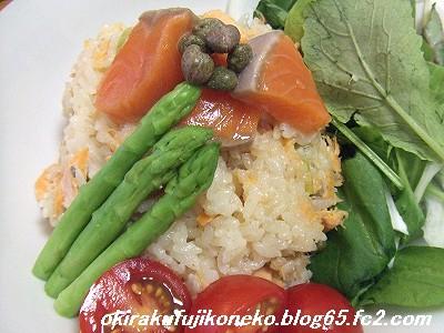 サーモンご飯3