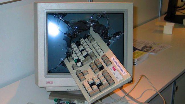 Smashed computer-970-80