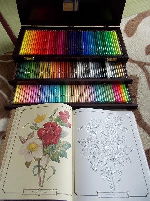 色鉛筆と塗り絵本