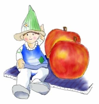 りんごとお人形