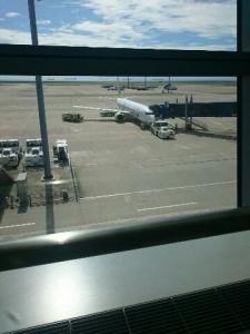 出発飛行機