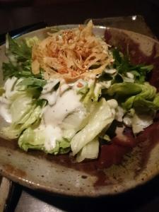 レタスとカリカリおじゃがのシーザーサラダ