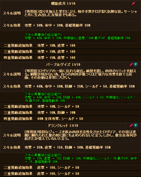 20170719-00l ☆10Exロザリアさんのデータ♪追記