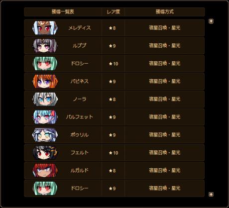 20170811-00a ダリオちゃんでのクリフィア(星光)10連♪