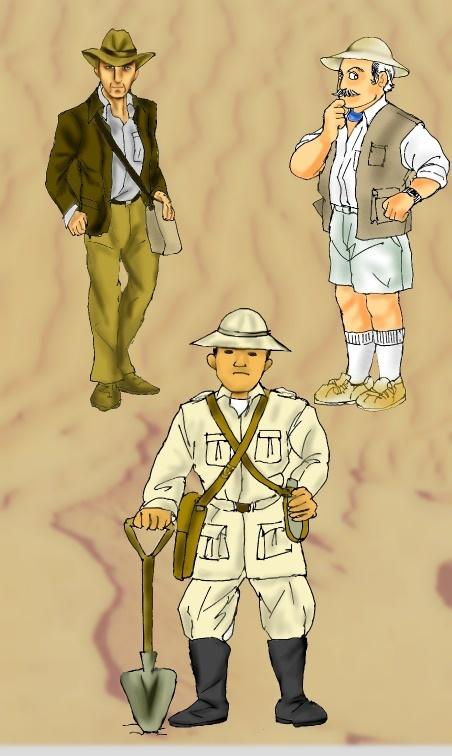 考古学者たち・・?