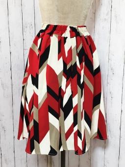 幾何学模様スカート2