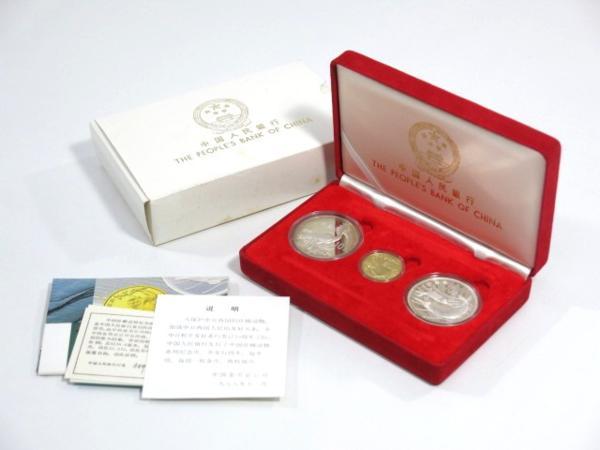 中華人民銀行 日中和平友好条約 10周年 100元金貨