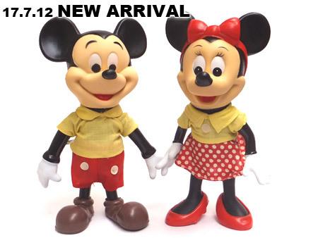 1970年代製造、ミッキー&ミニ―マウスドール