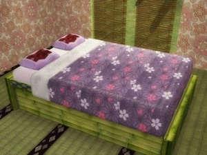 sims2竹の台に乗ったベッド