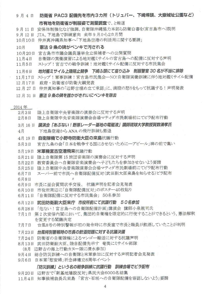 宮古島における反軍反基地の闘い2010-201704