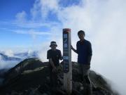 3:間ノ岳頂上。