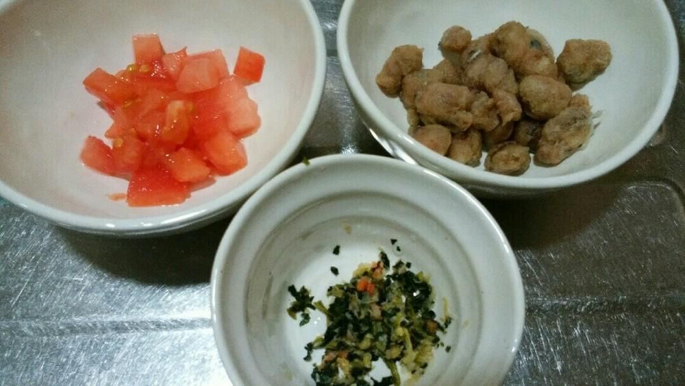 カツオとトマトのさっぱりごはんの作り方1