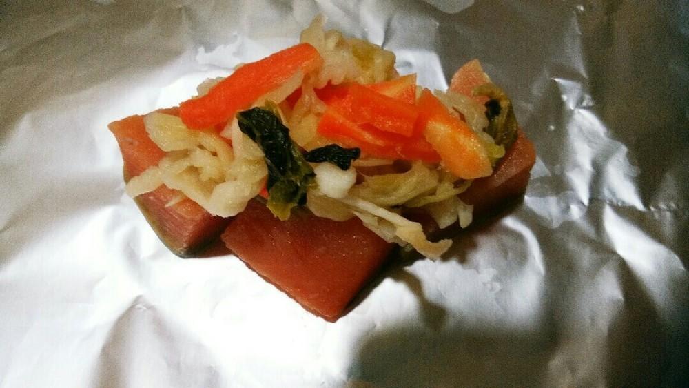 鮭のホイル焼きの作り方2
