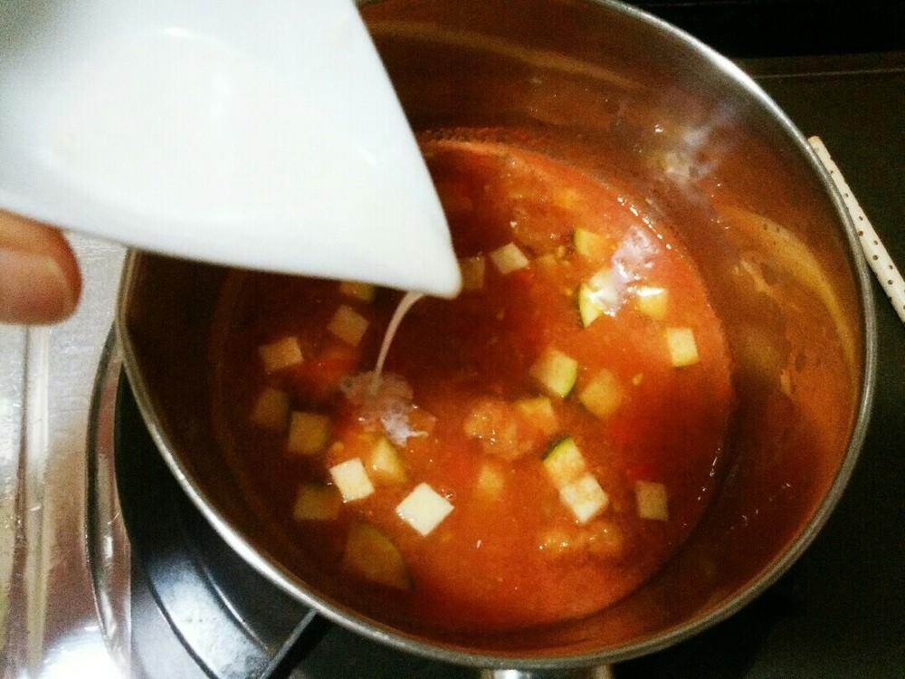 トマトミルクリゾットの作り方7