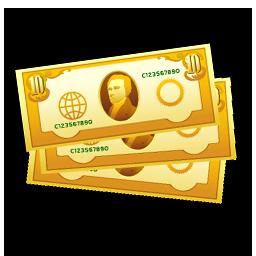 ドル札黄色アイコン