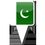 パキスタン旗ピンアイコン