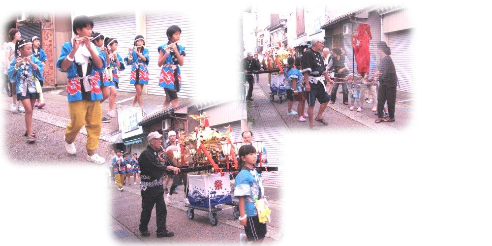 文化町のお神輿巡行
