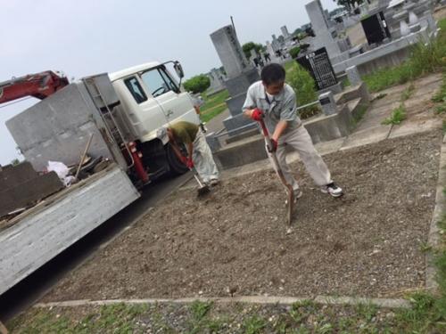 お墓の解体4