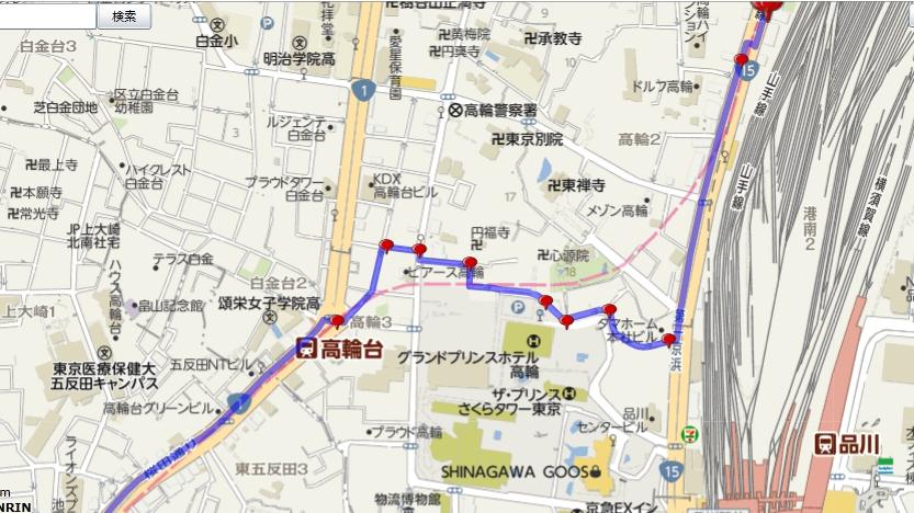 桜田通りから第一京浜への裏ルート