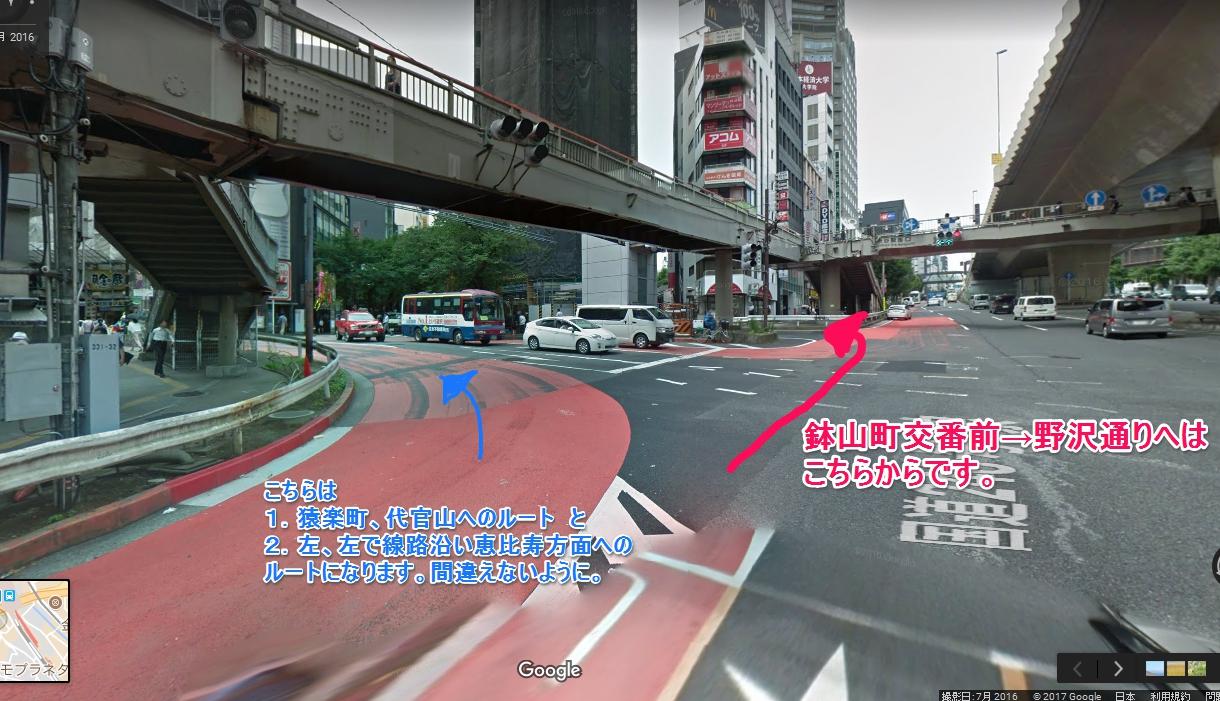 渋谷から野沢通りへのショートカットルート入口写真