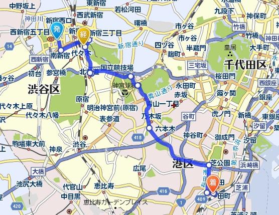 0904 新宿→田町最適ルート