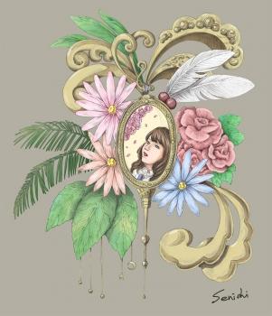 植物とペンダント