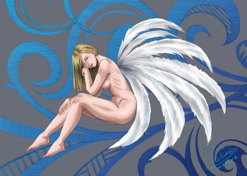 羽の生えた美人
