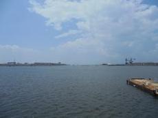 ブログ11三池港から対岸を望む