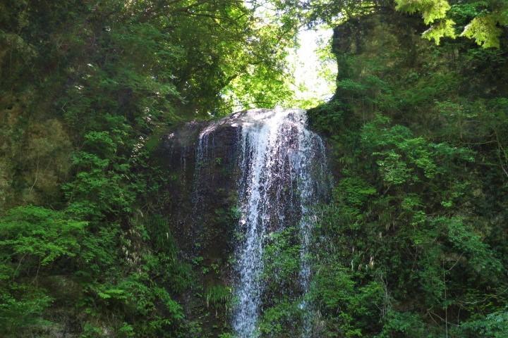 夕日の滝12