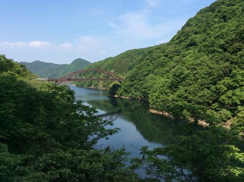 20170611荒川ダム 荒川大橋方面を撮影