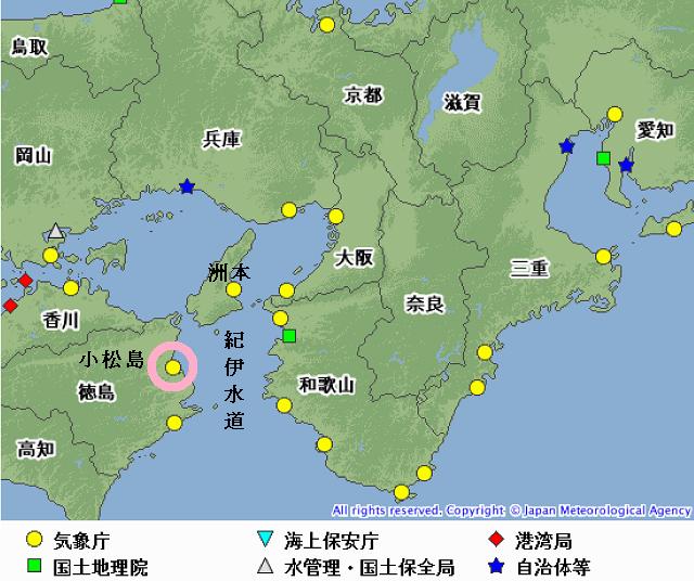 潮位観測所の位置図