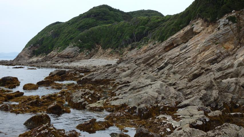 淡路島最南端の岩石海岸