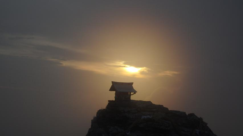 2017年7月18日 剣山の山頂
