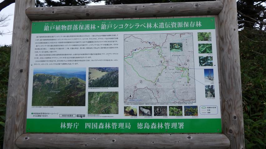 徳島森林管理署の説明看板