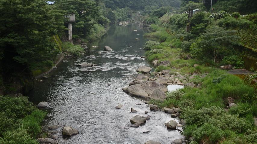 アユの魚影が濃い勝浦川