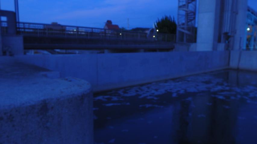 水門を閉めて海水の遡上を防ぐ