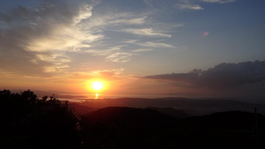 9月3日 諭鶴羽山の夕日