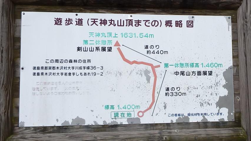 天神丸登山案内図