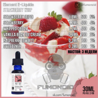 ELEMENT E-LIQUIDS STRAWVERRY WHIP