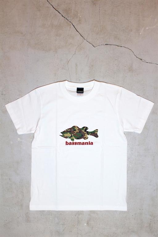 bassmania カモフラシルエットTee1