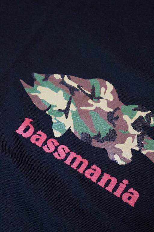 bassmania カモフラシルエットTee8
