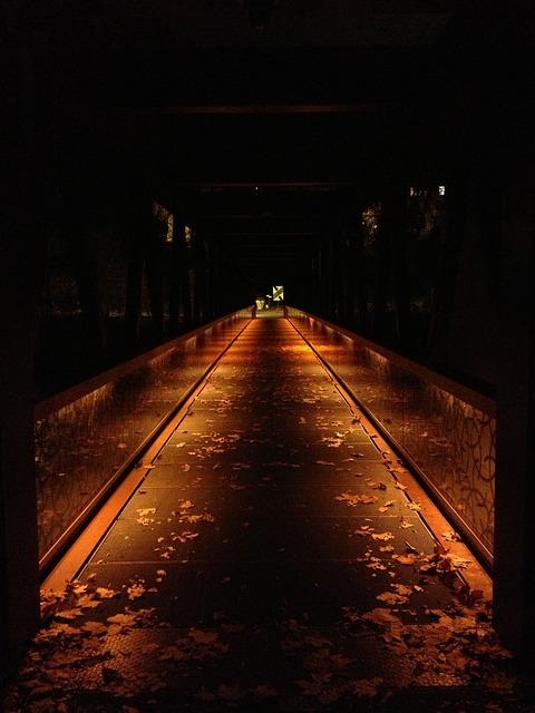 フリー画像光る桟橋