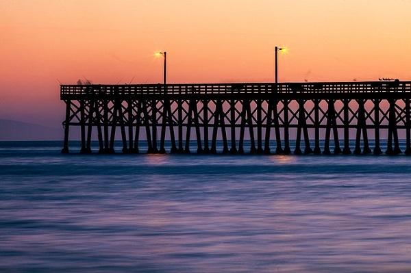 フリー画像・日没の海