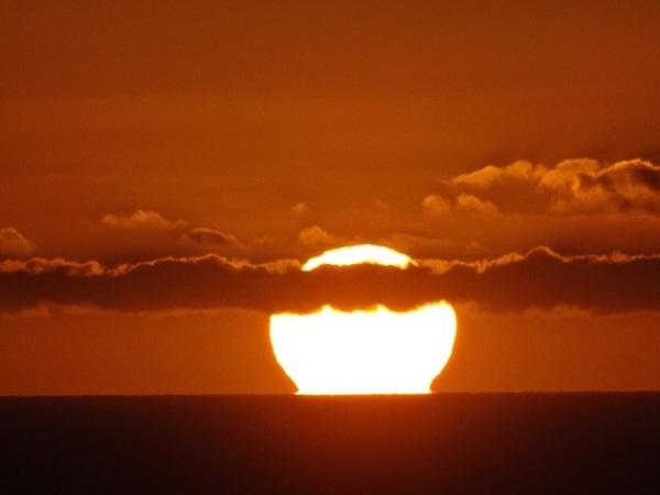 フリー画像・夕陽