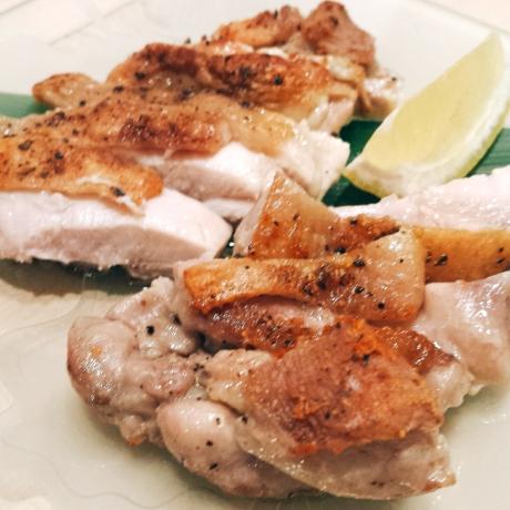 2017-07-30-鶏モモ肉黒胡椒焼き