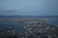 函館山からの夜景(17時55分)