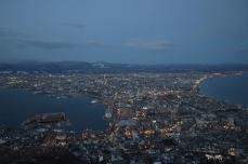 函館山からの夜景(18時00分)