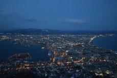 函館山からの夜景(18時05分)