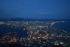 函館山からの夜景(18時10分)