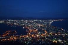 函館山からの夜景(18時15分)